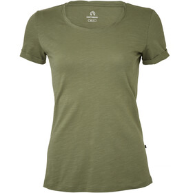 North Bend Slub Camiseta Mujer, green lichen
